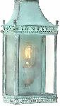 Elstead REGENTS PARK V Outdoor Wall Lantern in Verdigris Finish