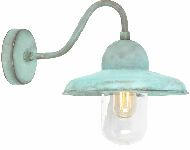 Elstead SOMERTON V Garden Wall Lantern in Verdigris Finish