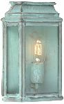 Elstead ST MARTINS V Garden Wall Lantern in Verdigris Finish