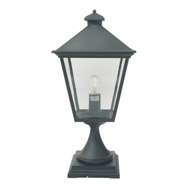 Welhome Bollard Light Garden Pedestal Led Solar Lamps: Elstead T3 Turin Pedestal Lantern