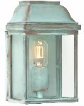 Elstead VICTORIA VERDI Outdoor Wall Lantern in Verdigris Finish